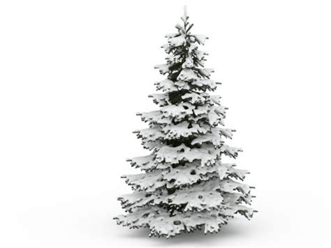Wood Christmas Tree Ornaments - snowy pine tree 3d model 3ds max files free download modeling 30170 on cadnav