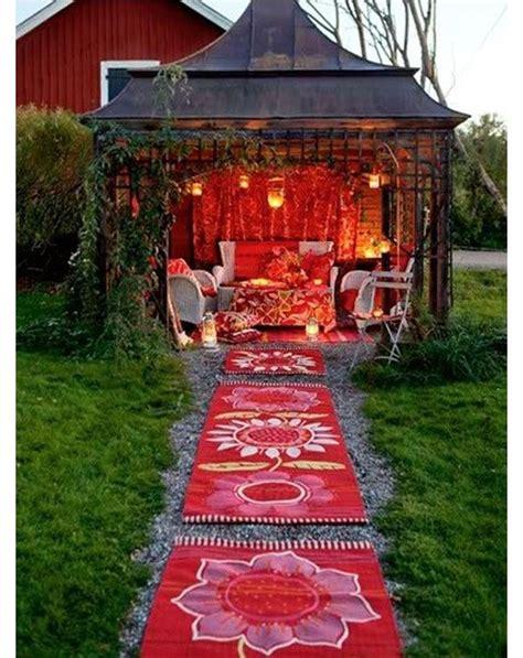 bohemian gazebo backyard getaway bohemian patio  sheds