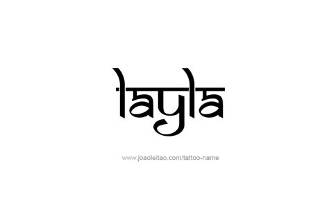 layla tattoo designs layla name designs