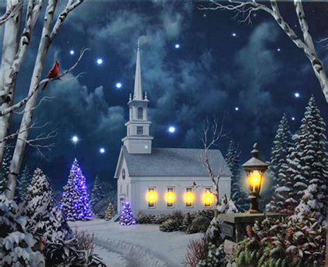 lighted church with colorful rice lights lighted canvas timer ebay