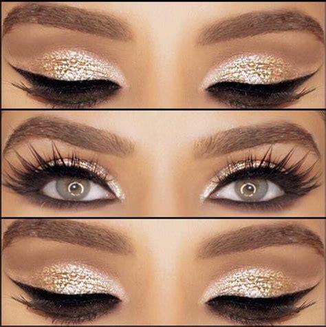 Eyeshadow Gold bold gold eyeshadow look makeup eyeshadow