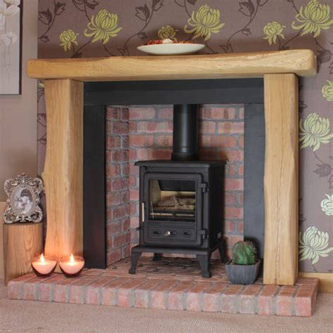 rustic fireplaces waney edge oxford rustic solid oak beam fireplace