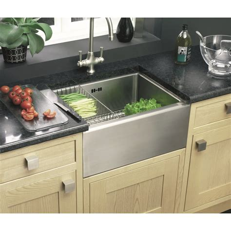sinks kitchen clearwater belfast single bowl 530mm x 395mm brushed steel