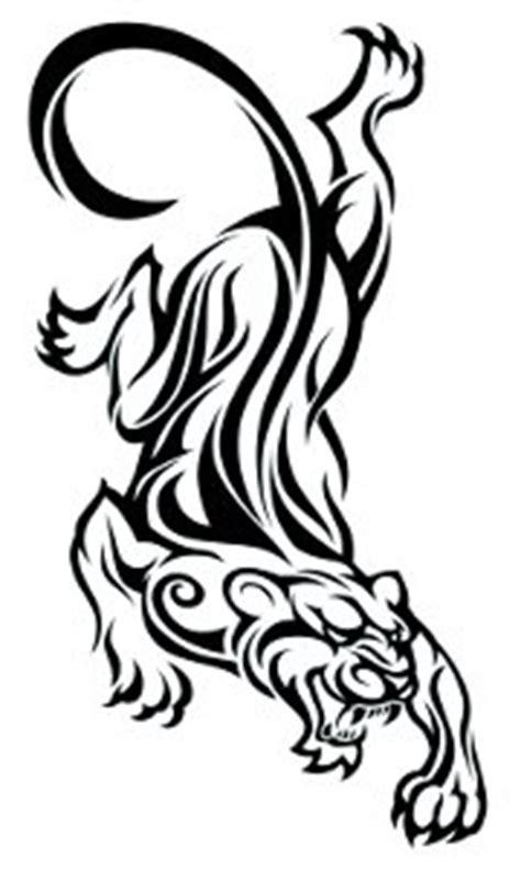 tribal panter large temporary tattoo