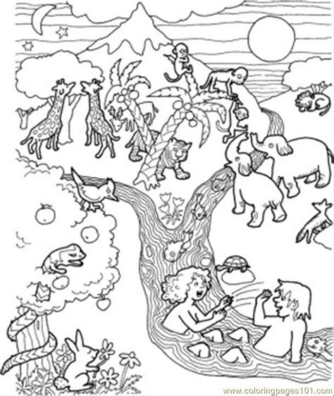 free coloring pages of flood