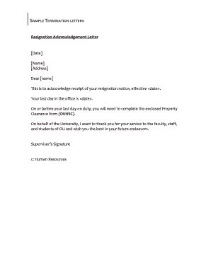 acknowledgement letter of cancellation image gallery letter acknowledging employee resignation