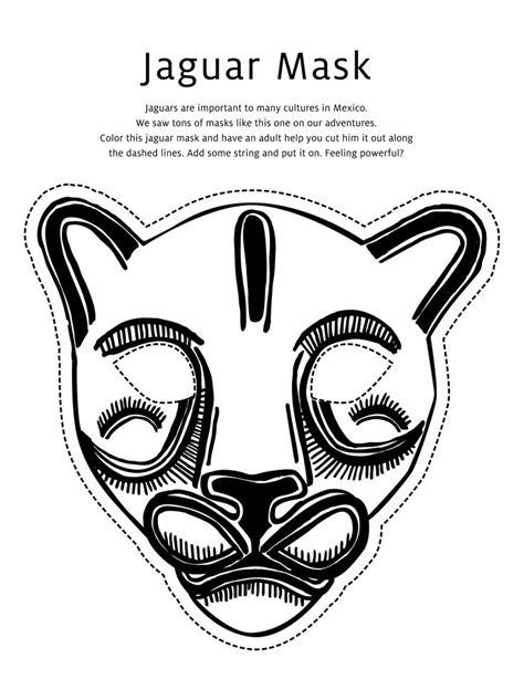 printable jaguar mask jaguar mask coloring page jpg 2 469 215 3 300 pixels school