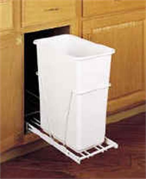 Pull Out Narrow Sliding slide out garbage systems by rev a shelf at kitchen shelves