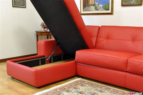 leather sleeper sofa with storage corner sofa bed in leather with storage