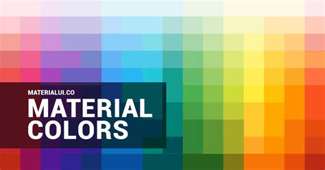 material design color schemes material design colors material colors color palette