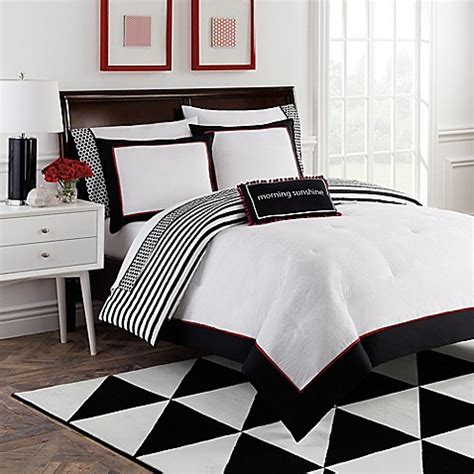 red black white comforter dahlia 8 piece reversible comforter set by robin zingone