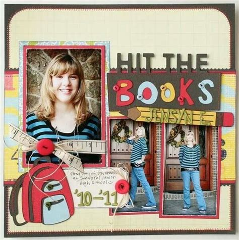 scrapbook layout first day of school first day of school scrapbook page ideas pinterest