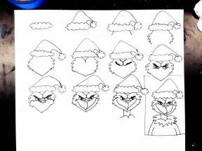 The grinch today here are the steps we followed for our drawings
