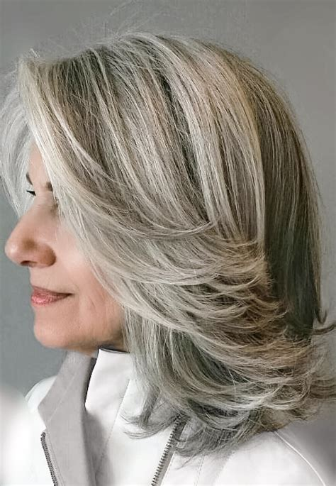how to blend grey hair with highlights grey blending a1 single process color pinterest gray