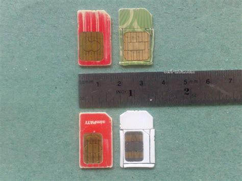 Potong Simkad Cara Memotong Kartu Sim Ponsel Ke Ukuran Micro Sim