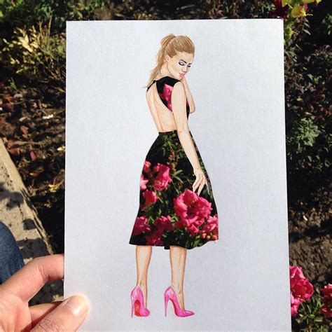 dress design and cutting armenian illustrator completes his cut out dresses with