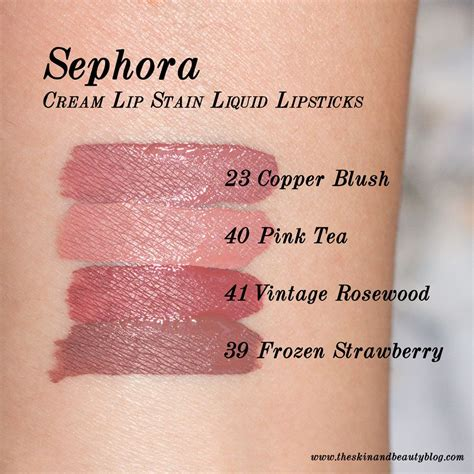 Lipstik Nyx Sephora sephora lip stain lipsticks in copper blush pink