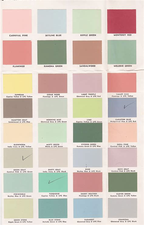 paint colors vintage goodness 1 0 vintage decorating 1950 s paint color chip brochures