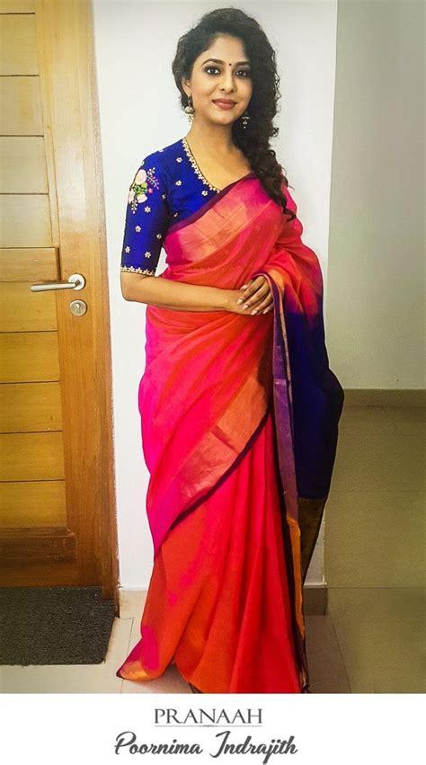 Baju Blouse Blus Linen Nov 7 poornima indrajith in pranaah linen blouses printed blouse ruffle blouse sponsored