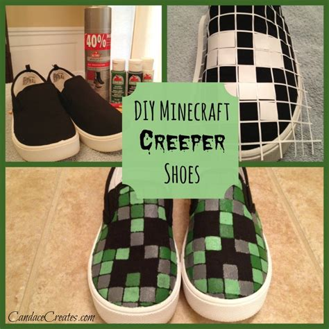 diy minecraft shoes someday crafts diy minecraft creeper shoes