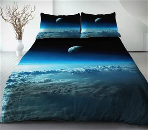 moon bed sheets cloud quilt cover sky blue bedding set two sides printing sailor moon bed spread moon