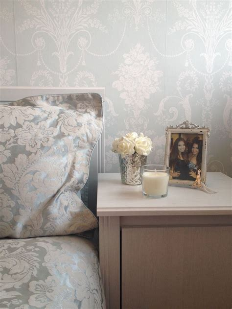 Bedside Table Ls Duck Egg Blue by Duck Egg Bedside Table Feature Wall Damask