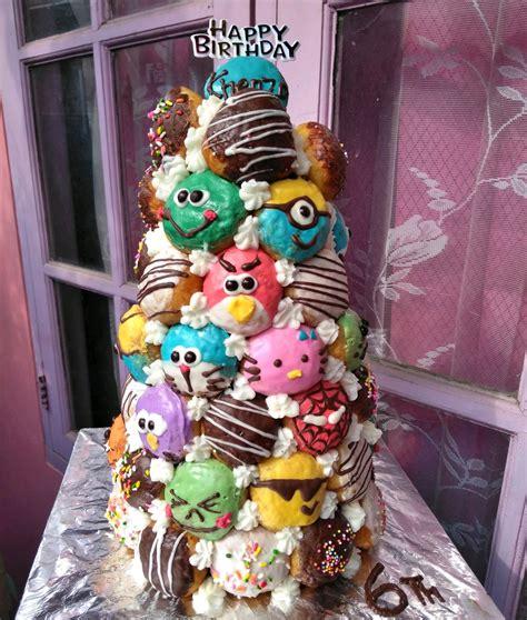 jual menara donat kado anak donat huruf donat ultah kue