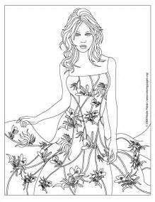 coloring pages of designs dresses fashion design coloring