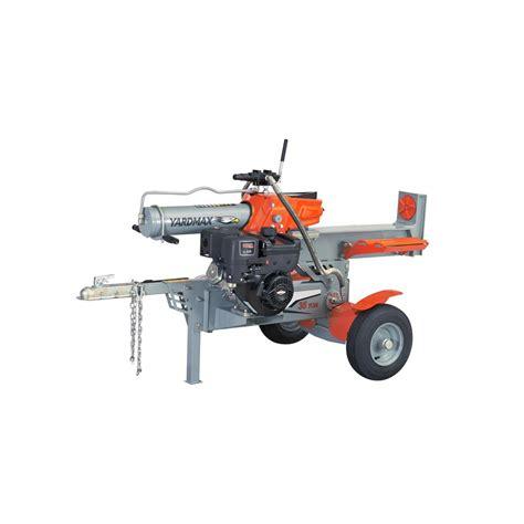 Rugged Log Splitter by Yardmax 35 Ton 306cc Gas Log Splitter Ys3567 The Home Depot