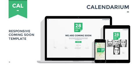 themeforest yokko calendarium responsive coming soon template theme for u