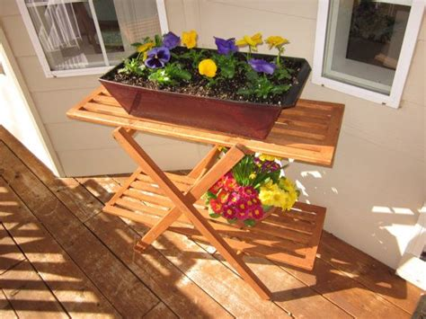 Outdoor Plant Table by Outdoor Plant Stand Table Plants Garden Room Garden