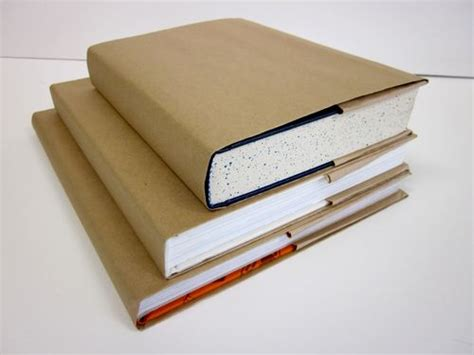 A Book Cover Out Of A Paper Bag - brown paper wrappings white matters
