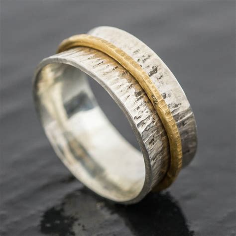 eco silver and eco gold spinner ring by jacqueline