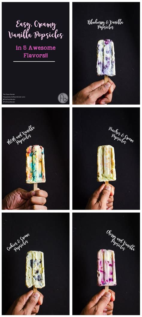 7 Awesome Flavors by Easy Vanilla Popsicles 5 Awesome Flavors