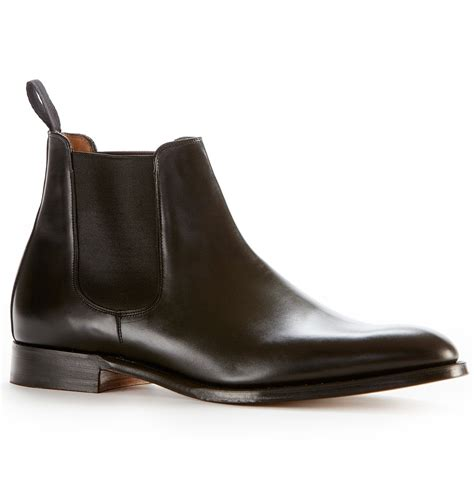chelsea boots sunspel joseph cheaney chelsea boot in black for lyst