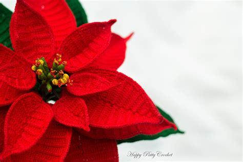 crochet poinsettia flower by happy patty crochet