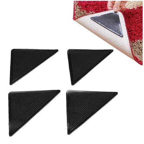 Rubber Mat Gripper by 4pcs Anti Slip Coner Rubber Mat Trangle Non Slip Carpet