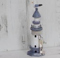 rustic blue and white lighthouse nautical home decor