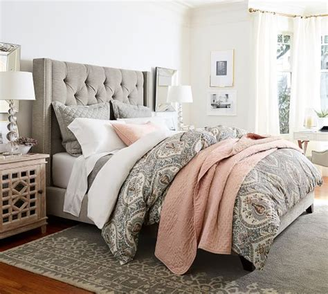 Accent Wall In Bedroom darcy printed duvet cover amp sham pottery barn
