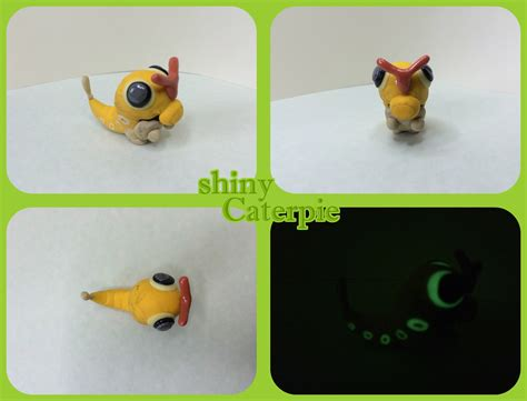 how to make clay shiny shiny caterpie polymer clay request by thunderboy0312 on