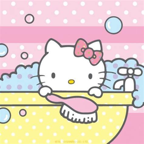 hello kitty bathtub bath time hello kitty images pinterest