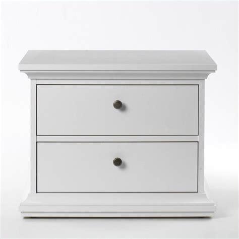 2 White Nightstands 2 Drawer Nightstand In White 7030149
