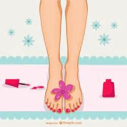 pedicure illustration vector free download
