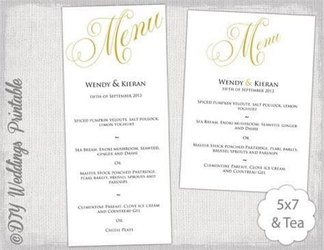 Come With Me Engagement Menu Part 2 by Menu Template Gold Wedding Menu Diy Wedding Menu Template