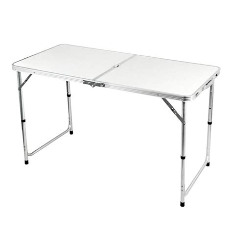 4 Foot Folding Table New 4ft Folding Outdoor Cing Hobby Kitchen Work Top Table Ebay