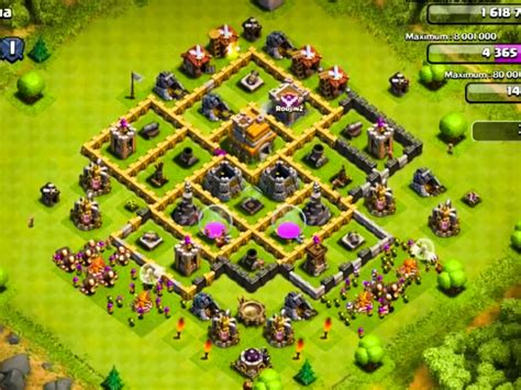 clash of clans defense town hall level 7 clash of clans town hall level 7 defence layout www