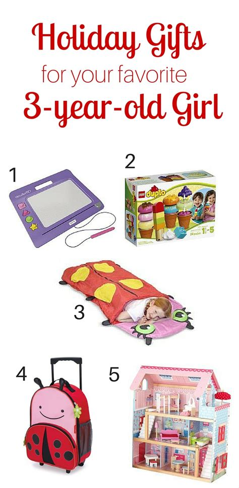 holiday gift guide for the 3 year old girl in your life