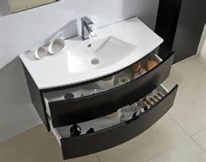 meuble salle de bain albi noir 100
