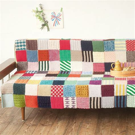 Crochet Patchwork - patchwork crochet blanket kit by felisimo great way to