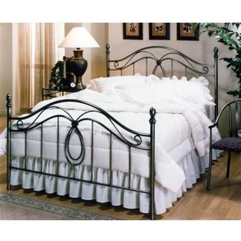 hillsdale milano antique pewter metal bed set with frame